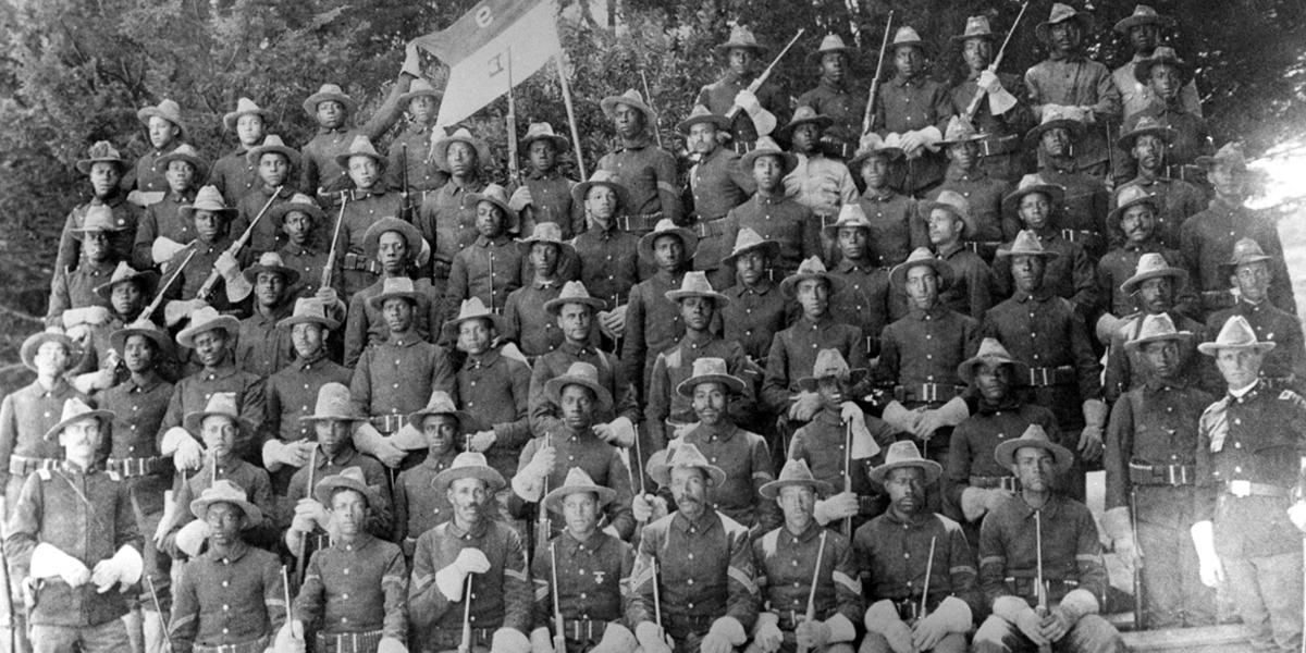 9th U.S. Cavalry, one of the 1st African-American Regiments, later known as Buffalo Soldiers